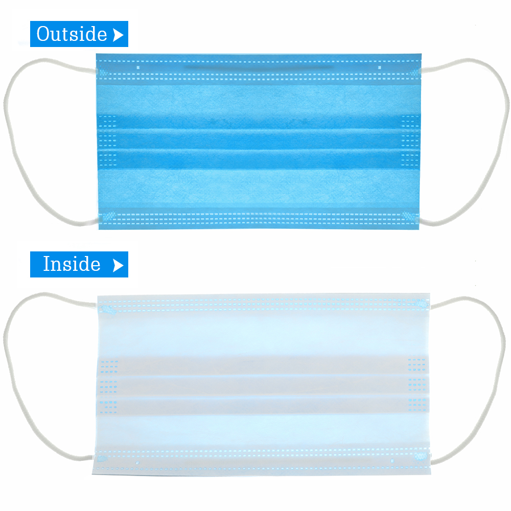 50 PCS/bag Anti Dust Breathable Disposable Earloop Mouth Fac
